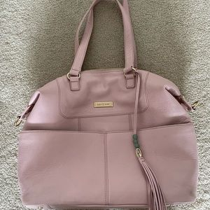 Lily Jade Shaylee - Pink leather diaper bag